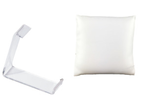 12pc Pillow Display Watch Displays White Faux Leather Watch Pillows W stand