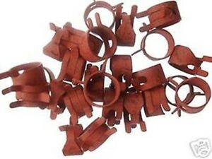 25pcs Red Spring Action Hose Clamps Fuel Vacuum Line For 1 2 Od Hose