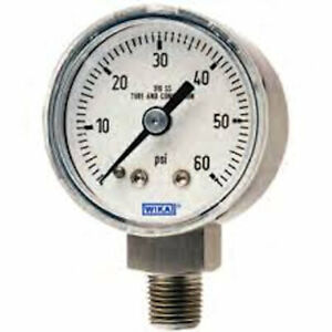 Wika 9361103 233 30 Hydraulic Gauge 60 Psi 4 In Face lower Mount lm 1 2 Npt