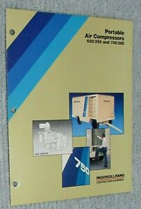 New 1989 Ingersoll Rand Portable Air Compressor 650 350 750 300 Brochure Free Sh