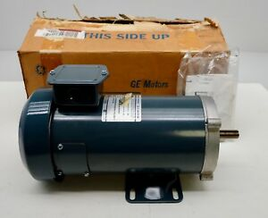 Ge 5bpa56rag8 Dc Motor 1 Hp 90v 10 7amp D279 Permanent Magnet Fan Cooled