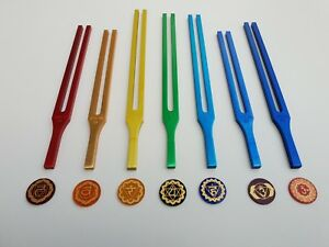 Best Seven Chakra Tuning Fork Color Therapy Energy Healing Mallet