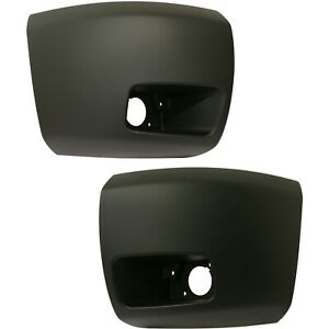 Bumper End Caps For 07 13 Chevrolet Silverado 1500 Set Of 2 Front Primed Capa