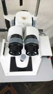 Slit Lamp 3 Step With Wooden Base With Accessory Beam Splitter