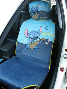 Lilo Stitch Disney Car Accessory 2 Pieces Car Seat Cover For 1 Seat music