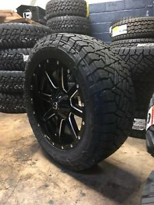 20 Fuel D610 Maverick Gloss 275 55r20 At Wheel Tire Package 6x5 5 Chevy Tahoe