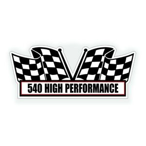 540 High Performance Air Cleaner Engine Decal For Big Block Bbc Crate Motor