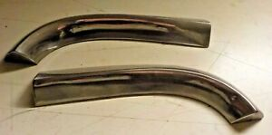 1959 59 Pontiac Above Tail Light Stainless Trim Left Right Mouldings Chrome