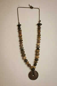 S American Pre Columbian Steatite And Stone Necklace C 1200bc 200bc