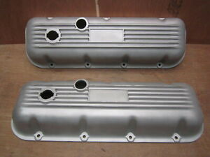 Vintage Motion Baldwin Ansen Big Block Chevy Aluminum Finned Valve Cover 396 427