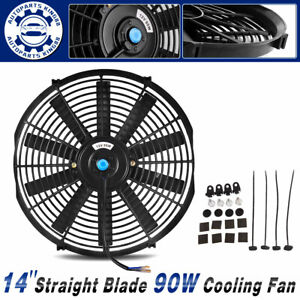 14 Inch Slim Pull Push Radiator Universal Engine Cooling Fan 80w Mount Kit