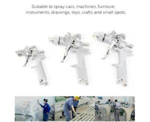 New 3 Hvlp Stainless Air Spray Gun Kit Auto Paint Car Primer Detail Basecoat