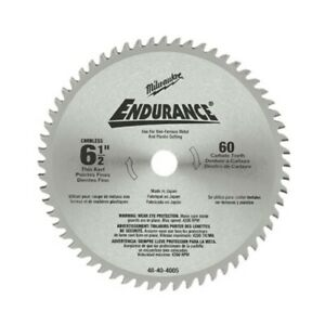 Milwaukee 48 40 4005 6 1 2 Non ferrous Metal Cutting Circular Saw Blade