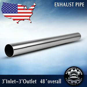 2 5 Inlet 2 5 Outlet 5 Feet Length Exhaust Pipe Straight Tube Stainless Steel