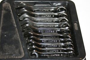 Matco Tools Stubby 12 point Metric Combination Wrench Set 10 19mm Usa