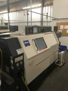 Used Miyano Bnj 51sy3 Cnc Lathe 2011 Fanuc Y axis Twin Turrets Two Spindles Bf