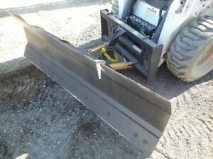 New Hd 8 96 Snow Plow Skid Steer Loader bobcat case Holland Tractors mahindra