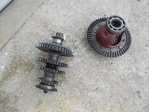 Farmall B Tractor Main Transmission Ring Pinion Drive Gear Assembly Shaft Gears