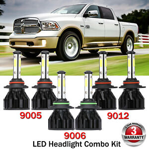 For Dodge Ram 1500 2013 2015 Led Headlight 9005 Hb3 9006 Hb4 9012 Fog Light Bulb