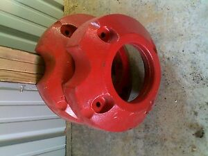 Farmall A B Bn 100 Tractor Rear 145 Lb Original Ih Weight Weights Repainted Set