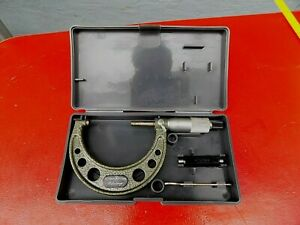 Mitutoyo 50 75 Mm Outside Micrometer Tool 103 139 Carbide Tipped With C