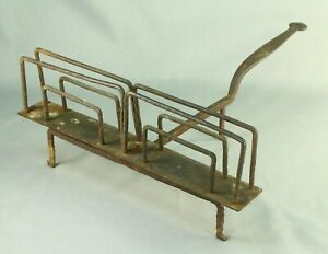 Antique 1700 S Early Wrought Iron Open Fire Bread Slice Toaster New England