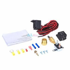 New Electric Engine Fan Thermostat Temperature Switch Relay Kit 175 785 Degree
