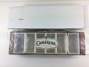 Camarena Condiment Garnish Caddy Wooden Tequila Bar 6 Slot Dispenser New