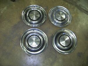 Set 4 1958 Pontiac Hub Caps Wheel Cover Hubcap 58 59 Star Chief Custom Catalina