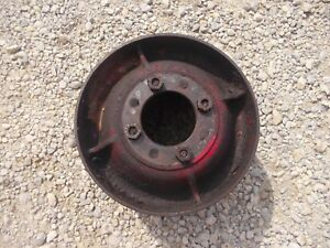 Farmall Super W6 Sw6 Mta Tractor Orignal Ih Steel Belt Pulley Real Nice W Bolts