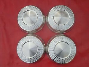 Vintage Nos 1965 66 Hemi Mopar Max Wedge Dog Dish Poverty Hubcaps Wheel Covers