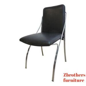 Vintage Mid Century Chrome Wire Side Dining Desk Chair