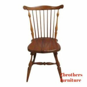 Vintage Duckloe Bros Plank Bottom Windsor Back Dining Room Desk Side Chair D