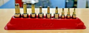 Snap On 209eftxby 9pc Combination Drive Torx Bit Socket Set W Magnetic Tray
