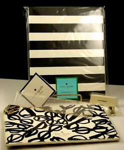 Kate Spade Spiral Notebook Literary Glasses Pencil Pouch W Accessories Nwt