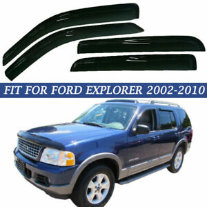 Fit For 2002 2010 Ford Explorer 4 Door Window Visor Rain Guard Trim Smoke New