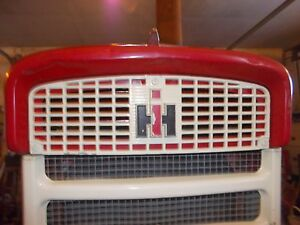 International 340 Utility Tractor Front Nose Cone Grill Bonnet Screen Ih Emblem