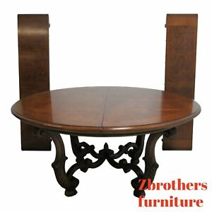 Henredon French Empire Round Pedestal Base Dining Room Banquet Table