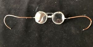 Vintage Safety Glasses steampunk mesh Side Protect With Clear Lens Ao Pat 1917