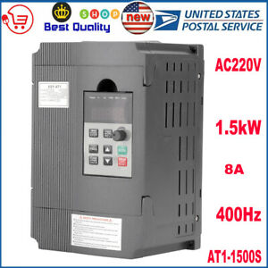 Single Phase Variable Frequency Drive Inverter Vfd 7 5kw 3hp 8a For Cnc Us Stock