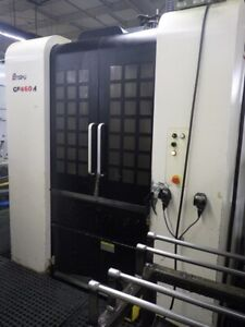 Used Enshu Ge 460h Cnc Horizontal Mill 2014 16 Pallet Tsc Chip 15000 Rpm