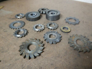 Pile Of Small Arbor Mill Milling Cutters Machinist Tooling