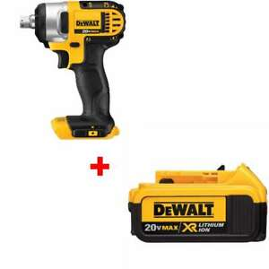 Dewalt Dcf880b 20v Max 1 2 Impact Wrench With Free 4 0 Battery