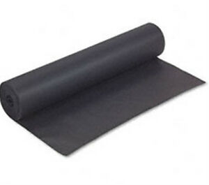 75 Foot Roll X 24 Inches Wide 50 Black Kraft Paper Free Shipping