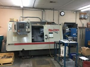 Used Cincinnati Falcon 200 Cnc Lathe 1998 Tailstock Chip 8 Chuck Cheap