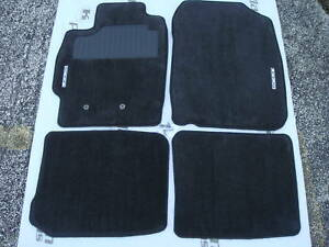 Scion Tc 2005 2010 Floor Mats Set Black Insignia Logo Genuine Original Oem New