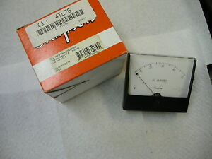 Simpson Model 1359md Catalog 35079 Analog Panel Meter 0 50 Ac Amperes Nib