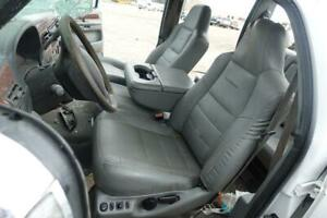 2003 2007 Ford F250 F350 Lariat Oem Gray Leather Seats Bench Jump Seat Crew Cab