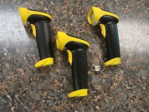Lot 3x Wasp Wws550 Cordless Barcode Pos Scanner W 1x Trendnet Usb Adapter
