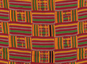 Kente Handwoven Cloth Asante Ghana African Art